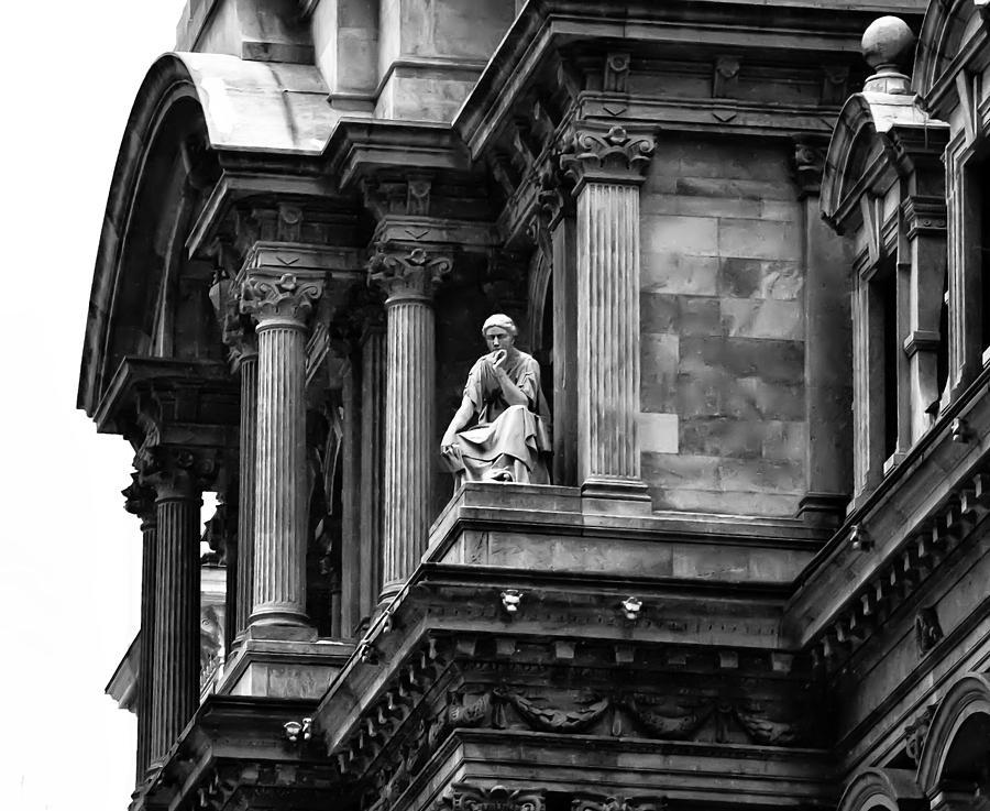 City Hall Photograph - City Hall Edifice - Philadelphia by Bill Cannon