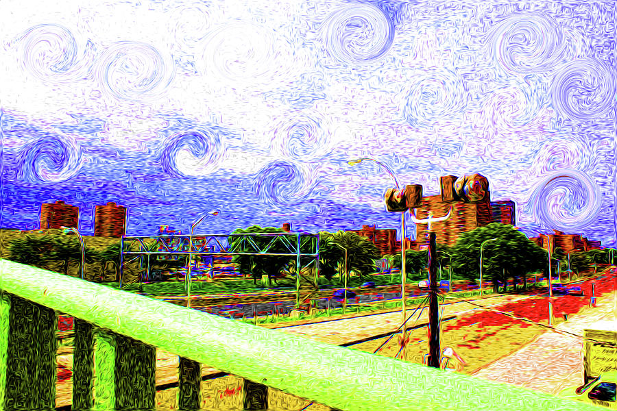 Van Gogh Photograph - City In Color by Dax Ian