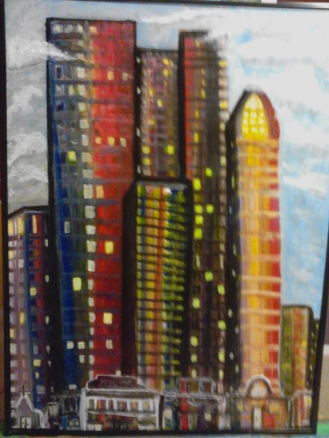 Abstract Painting - City Lights by Connie Carleton