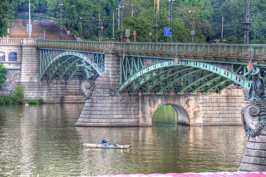Malmo Digital Art - City Of Bridges by Barry R Jones Jr