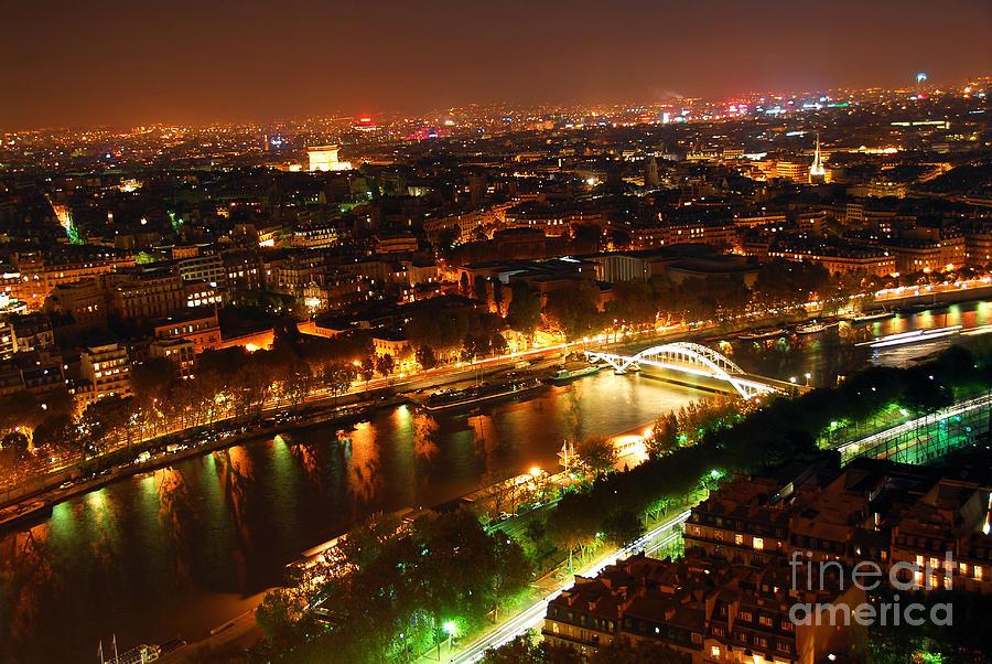 Aerial Photograph - City Of Light by Elena Elisseeva