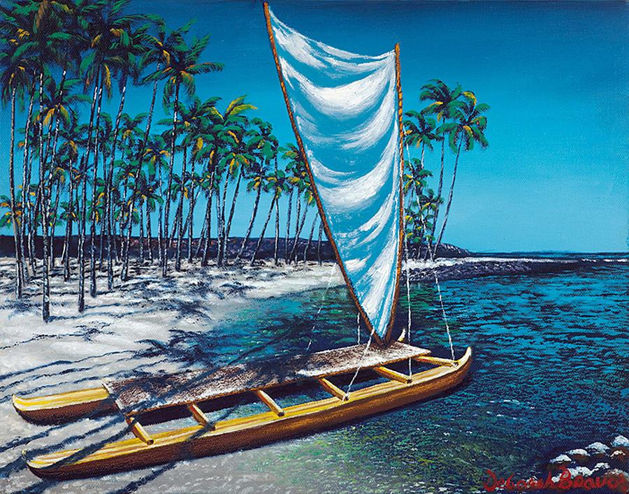 Hawaii Painting - City Of Refuge by Deborah Beaver