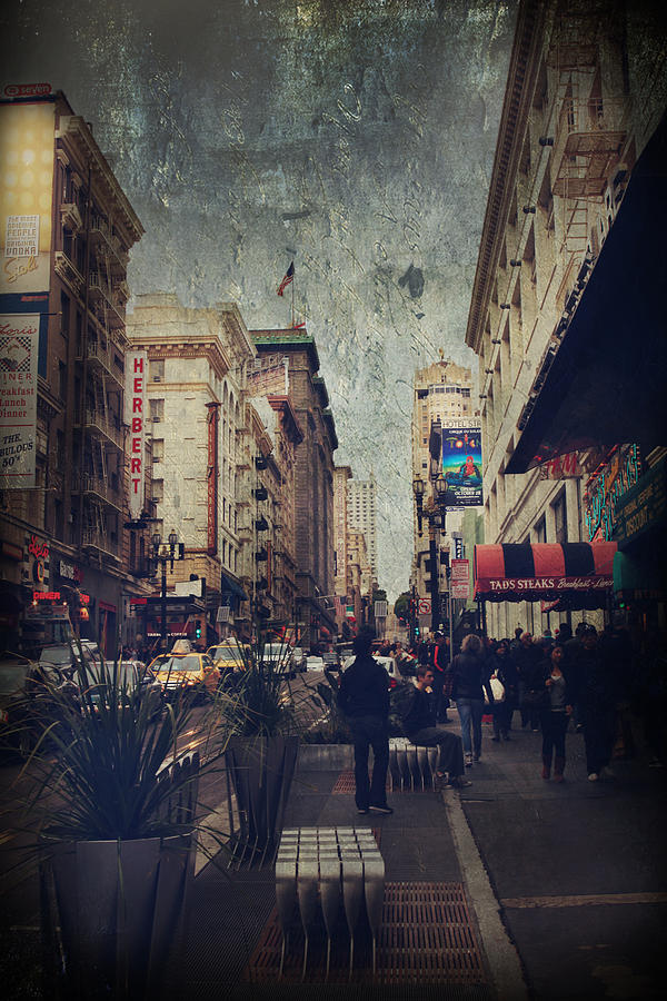 San Francisco Photograph - City Sidewalks by Laurie Search