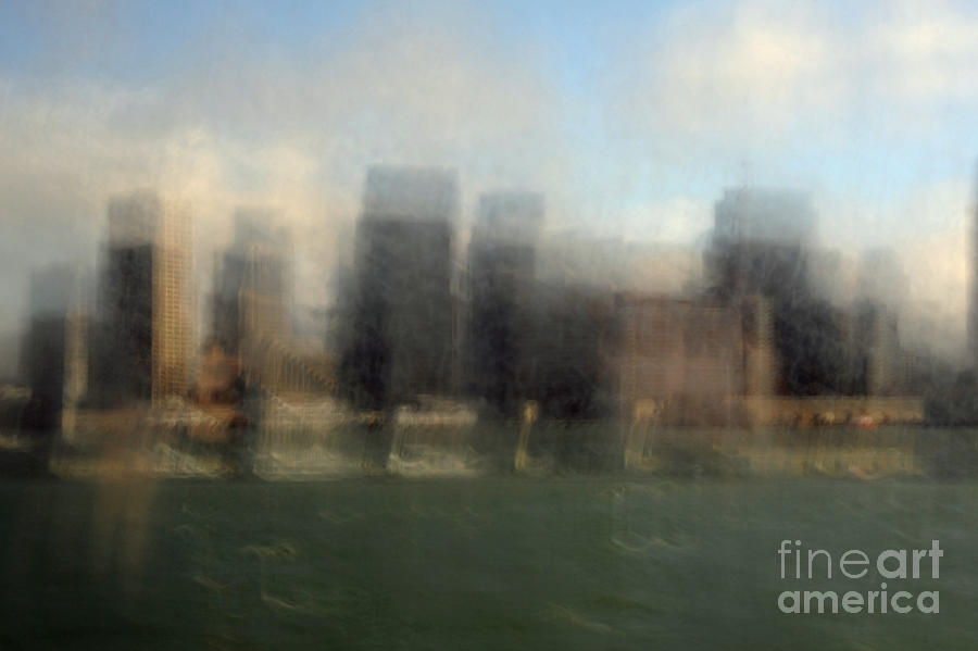 San Francisco Photograph - City View Through Window by Catherine Lau