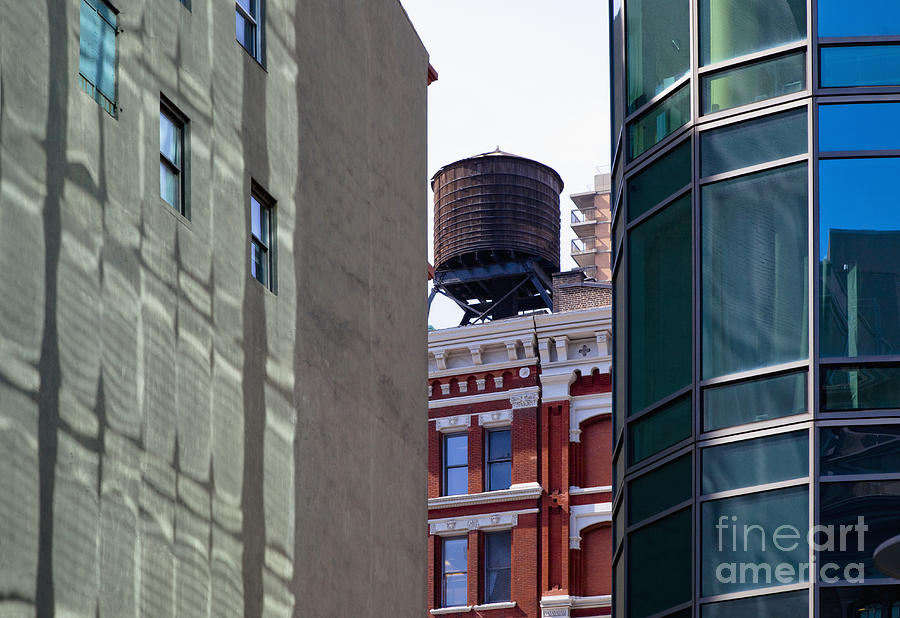 Apartments Photograph - City Water Tower by Inti St. Clair