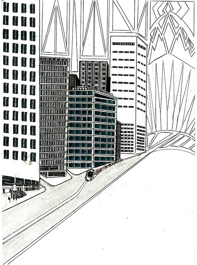 Cityscape  Drawing by Harry Richards