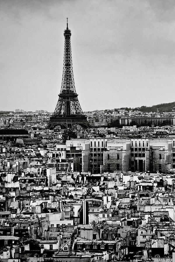 Vertical Photograph - Cityscape Of Paris by Sbk_20d Pictures