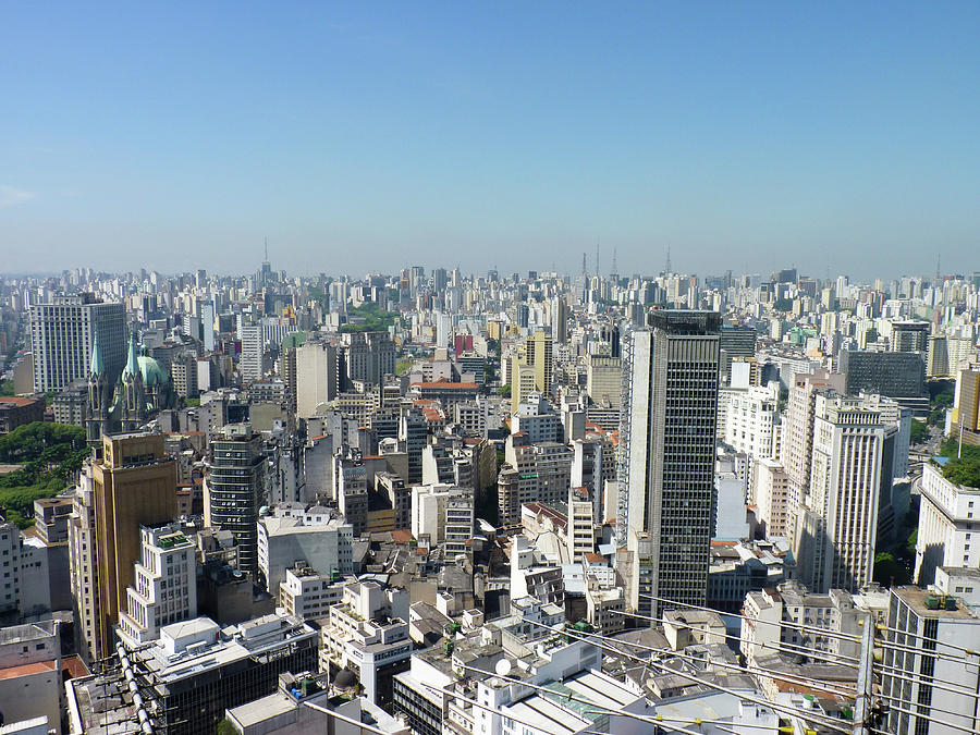 Horizontal Photograph - Cityscape Of São Paulo by Felipe Borges