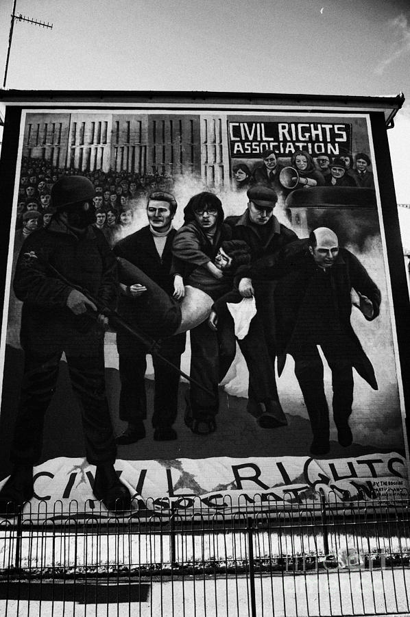 Civil rights bloody sunday mural derry photograph by joe fox for Bloody wall mural