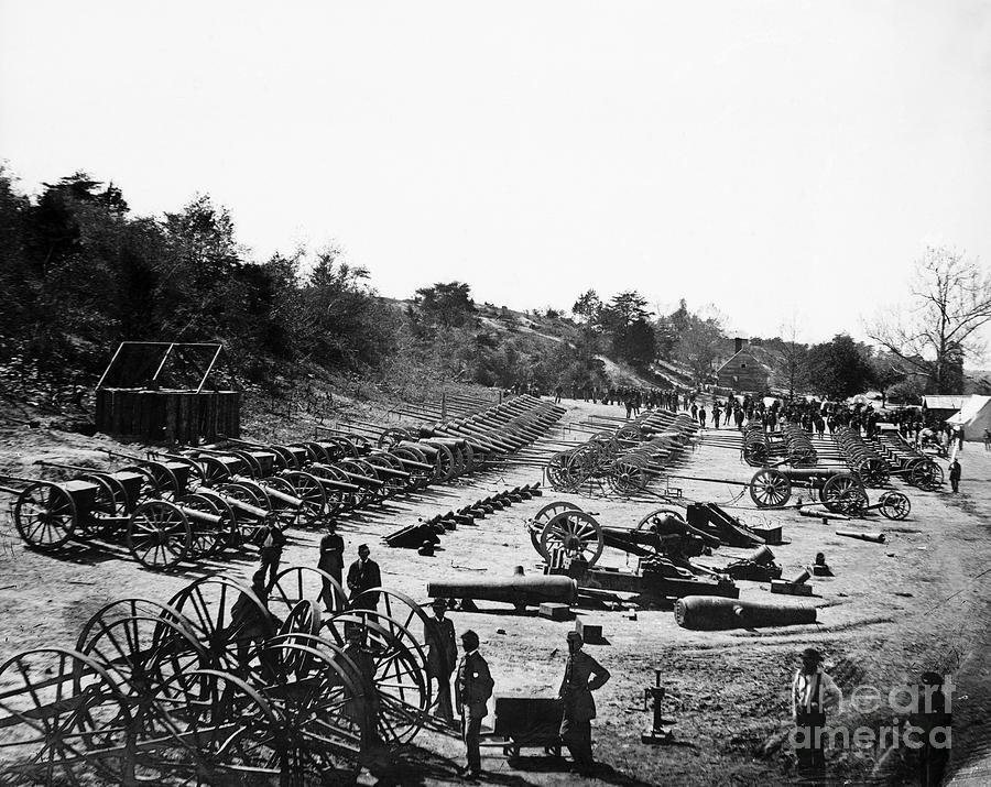 1864 Photograph - Civil War: Artillery by Granger