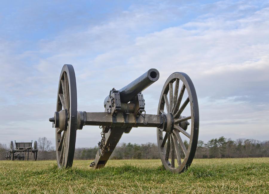 manassas Battlefield  Photograph - Civil War Cannon At Manassas National Battlefield Park - Virginia by Brendan Reals