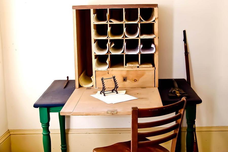 Civil Photograph - Civil War Desk by Trish Tritz
