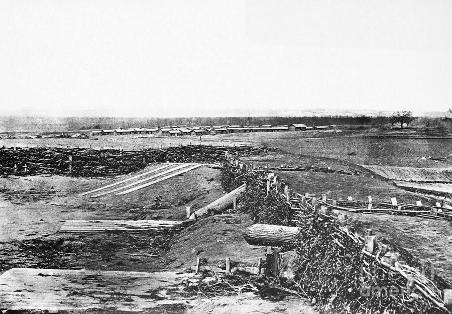 Historical Photograph - Civil War Quaker Guns by Photo Researchers