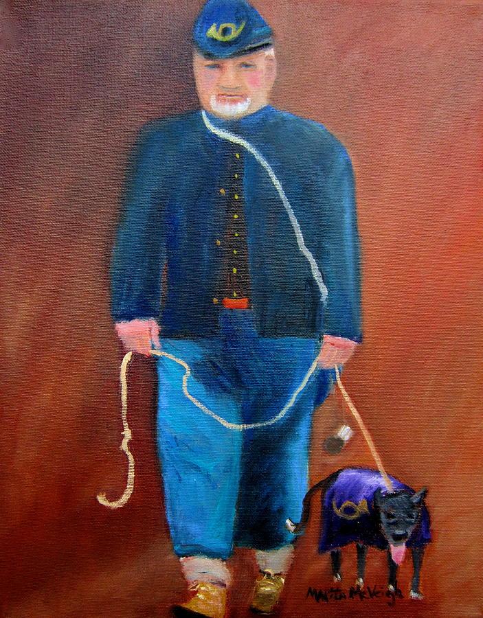 Civil War Reenactor Painting - Civil War Reenactor by Marita McVeigh
