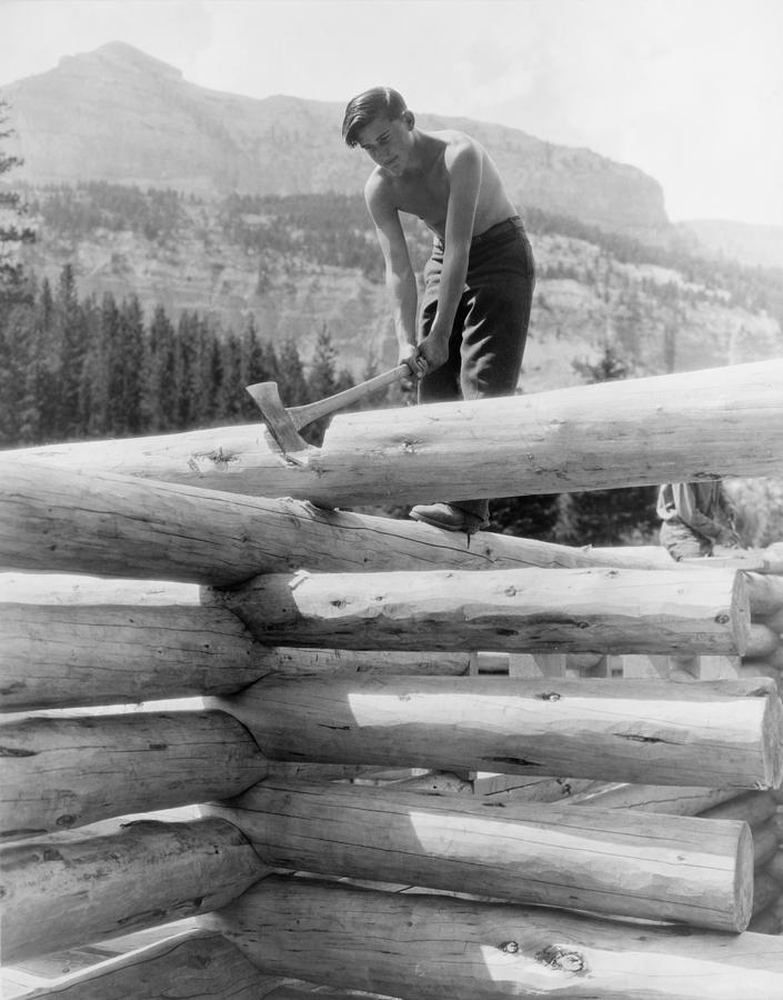 History Photograph - Civilian Conservation Corp Worker by Everett