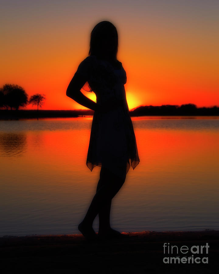 Sunset Photograph - Claire by Tamyra Ayles
