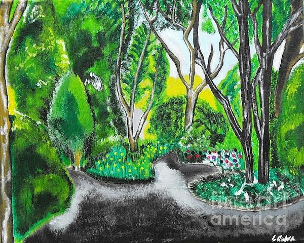 Landscape Painting - Clandestine by Laura Ruben