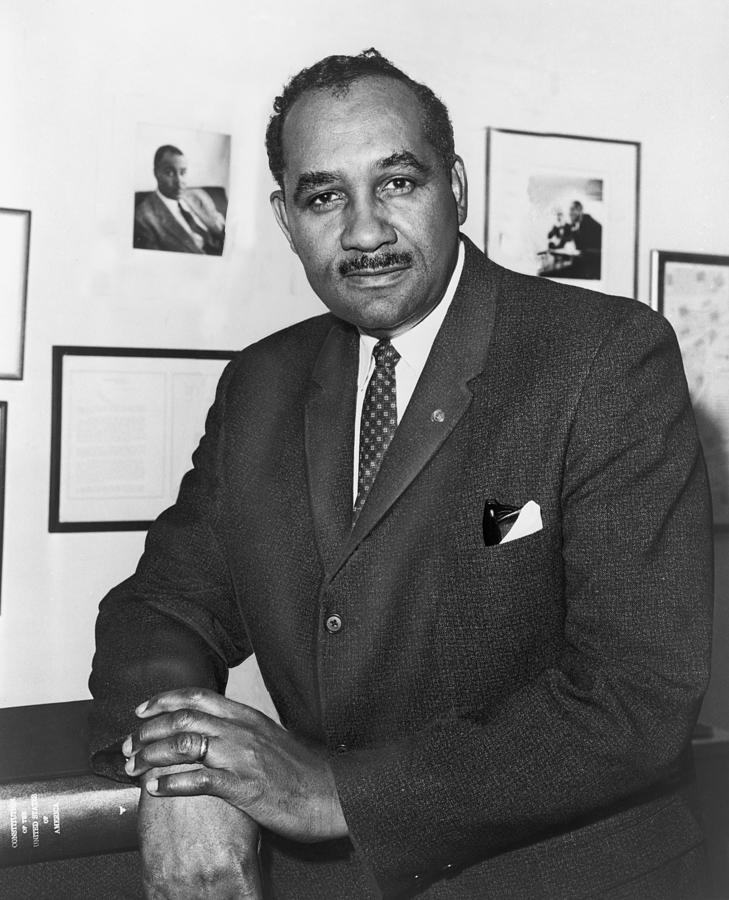History Photograph - Clarence Mitchell, Jr., Head by Everett