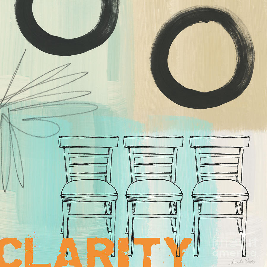 Abstract Painting - Clarity by Linda Woods