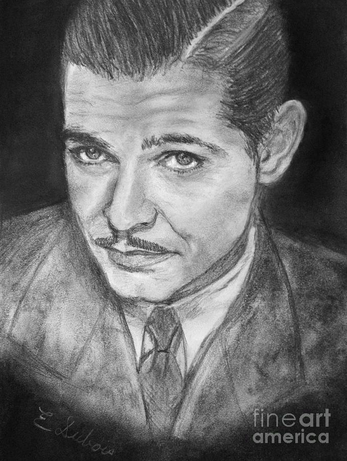 Clark Gable Drawing - Clark Gable by Elisabeth Dubois