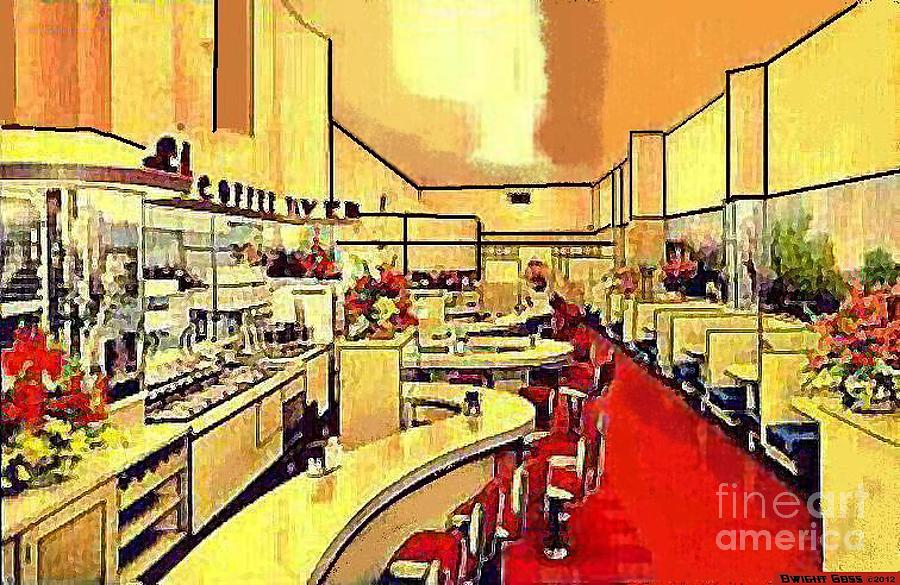 Coffee Painting - Clarks Coffee Tavern In Seattle Wa In The 1940s by Dwight Goss