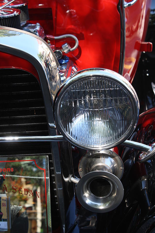 Classic Photograph - Classic Antique Car- Ford - Roaring 20s - Detail by Dora Sofia Caputo Photographic Design and Fine Art