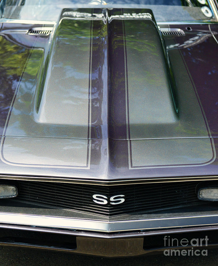 Camaro Ss Photograph - Classic Camaro Ss Hood Cowl by Paul Ward