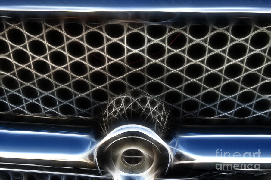 Classic Photograph - Classic Chrome Car Grill by Darleen Stry