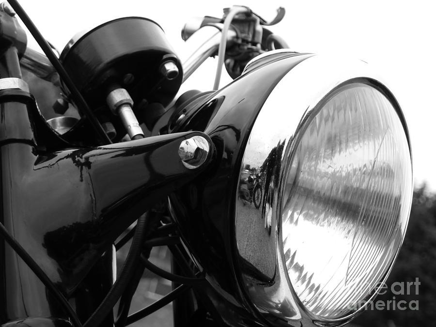 Douglas Photograph - Classic Douglas Headlight by Andrew May