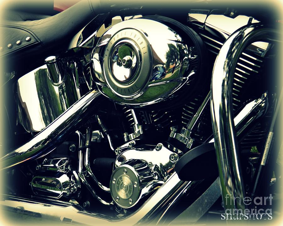 Classic Photograph - Classic Harley by Emily Kelley