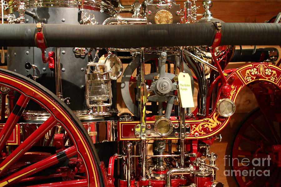 Transportation Photograph - Classic Vintage Fire Engine . 7d13130 by Wingsdomain Art and Photography