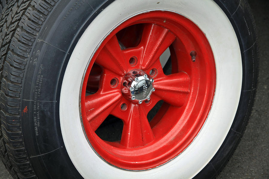 mag wheel photograph classic white wall tire and mag by steve mckinzie