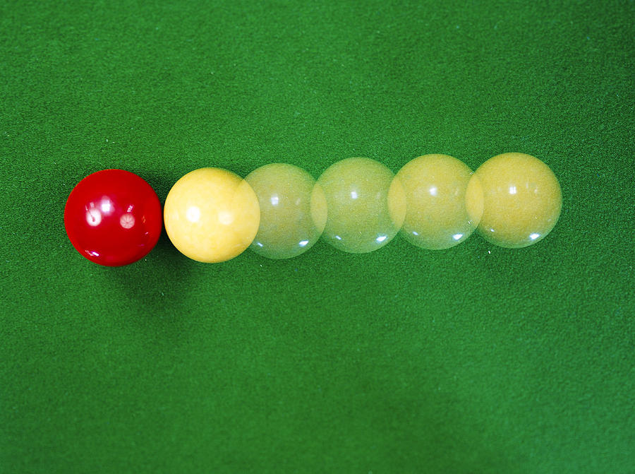Billiard Ball Photograph - Classical Mechanics by Andrew Lambert Photography