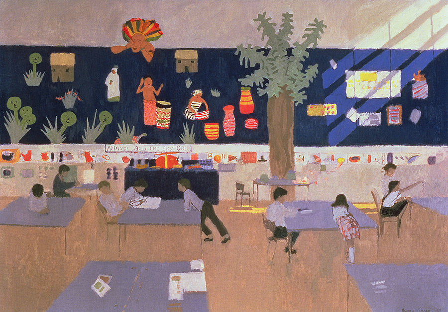 Pupil Painting - Classroom by Andrew Macara