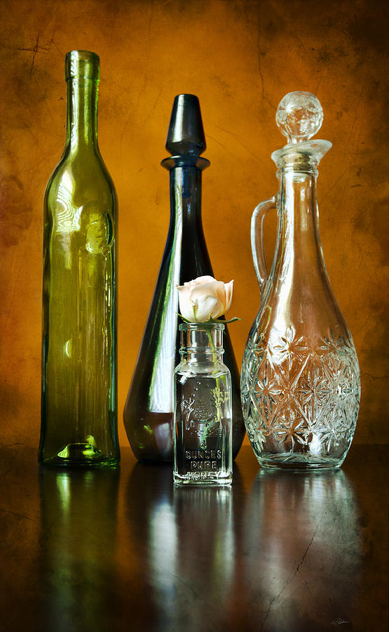 Colored Photograph - Classy Glass by Peter Chilelli