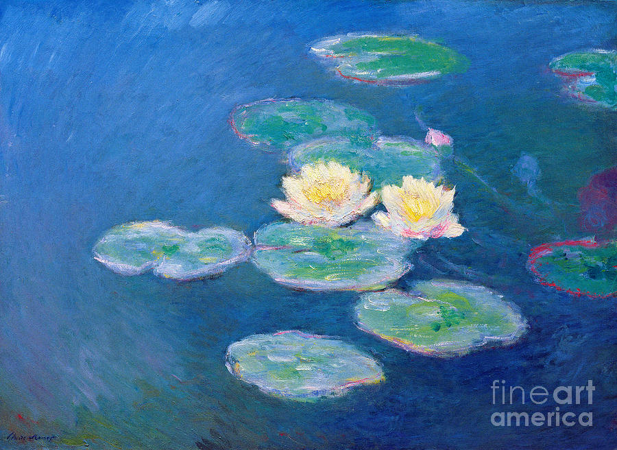 Pd Painting - Claude Monet Nympheas 1907 by Pg Reproductions