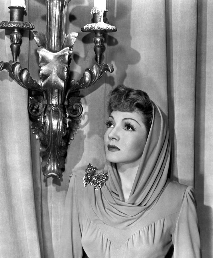 Butterfly Photograph - Claudette Colbert by Everett