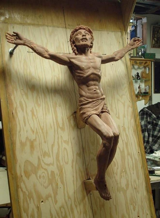 Last Breath Portrait Sculpture - Clay Original Of Last Breath by Patrick RANKIN