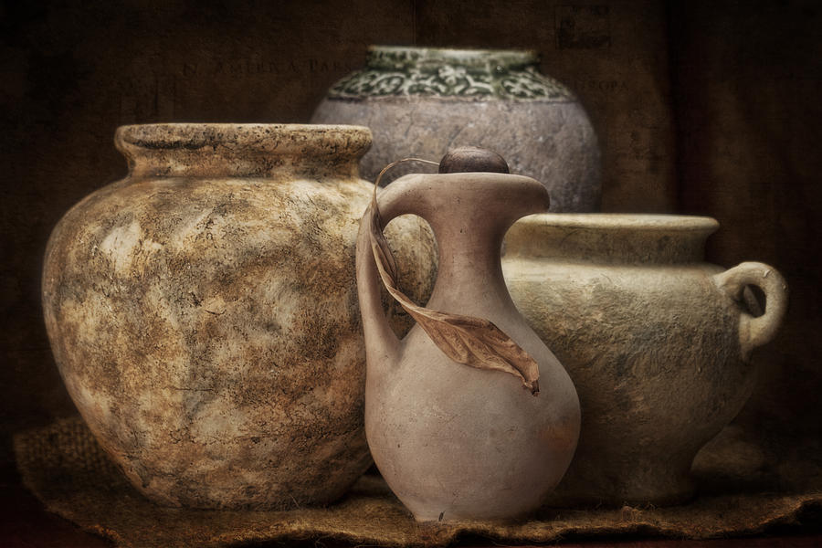 Pottery Photograph - Clay Pottery I by Tom Mc Nemar