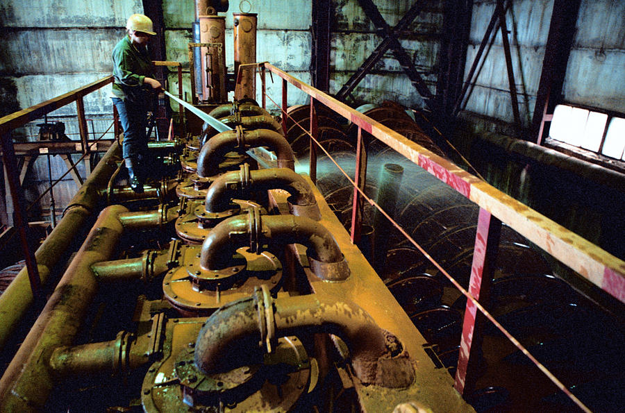 Water Photograph - Cleaning Gold Mining Equipment by Ria Novosti