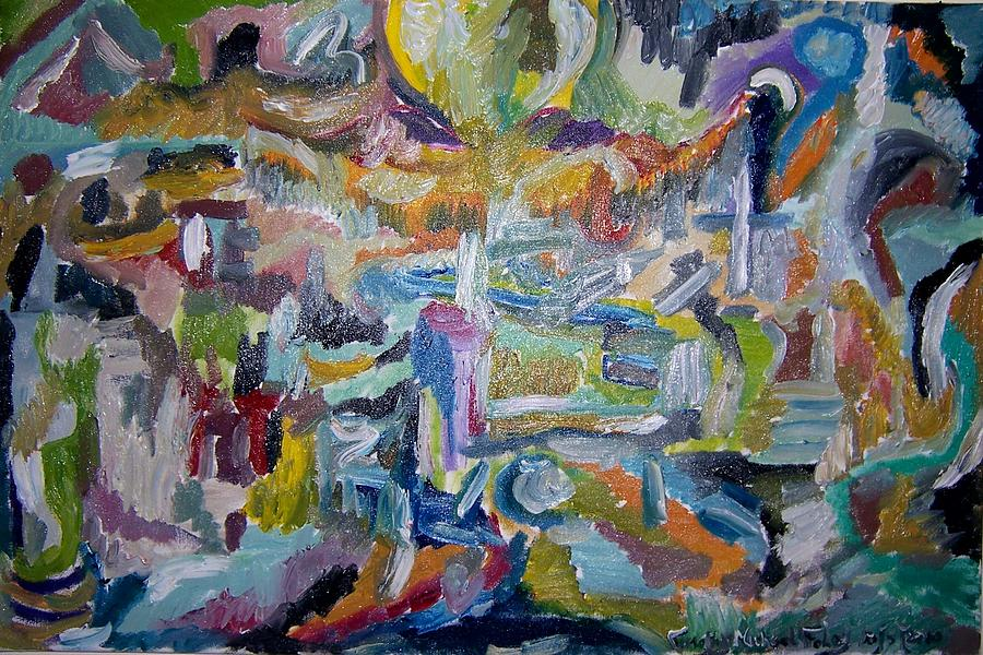 Abstract Painting - Cleansing Of The Mind by Timothy  Foley