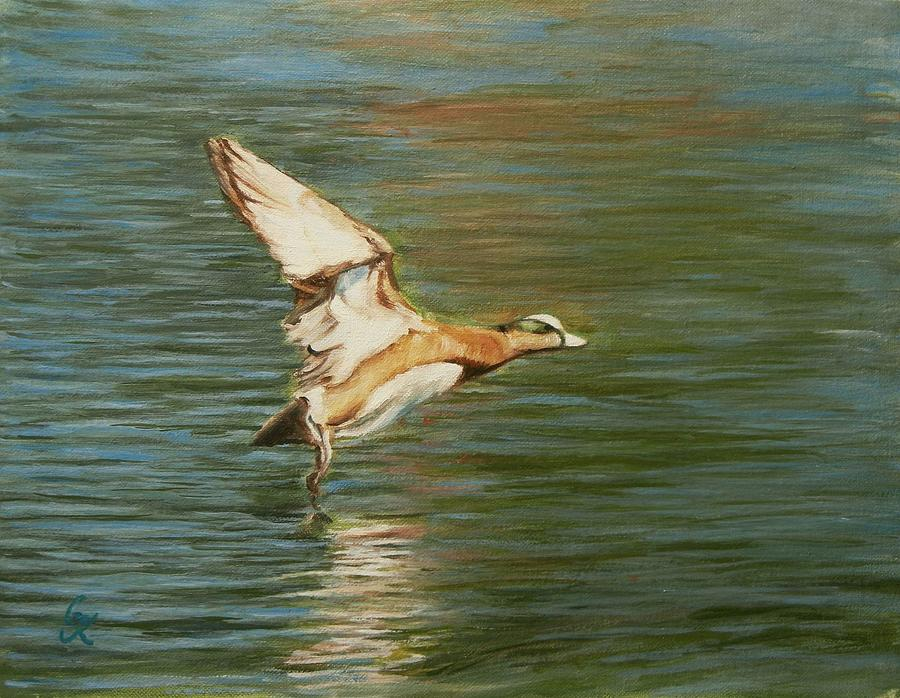 Duck Painting - Clear For Takeoff by George Kramer