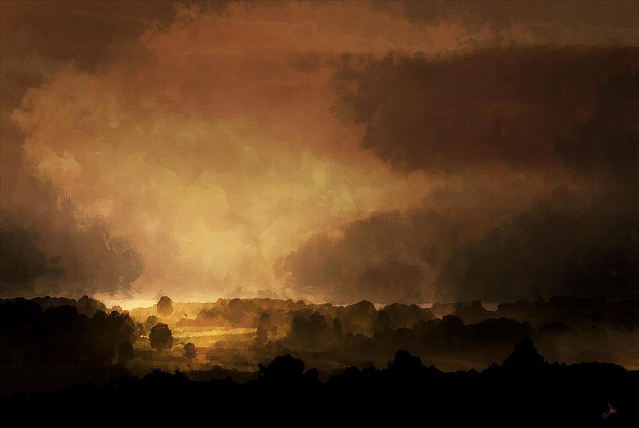 Landscape Digital Art - Clearing Storm by Ron Jones