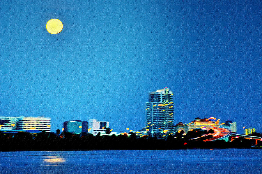 Clearwater Photograph - Clearwater At Night by Bill Cannon
