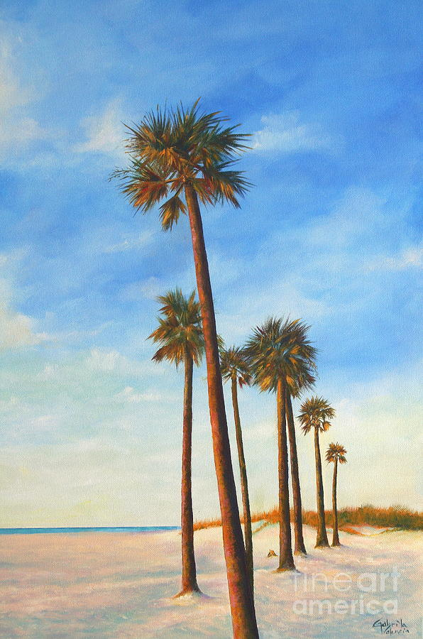 Clearwater Beach Scene Painting By Gabriela Valencia