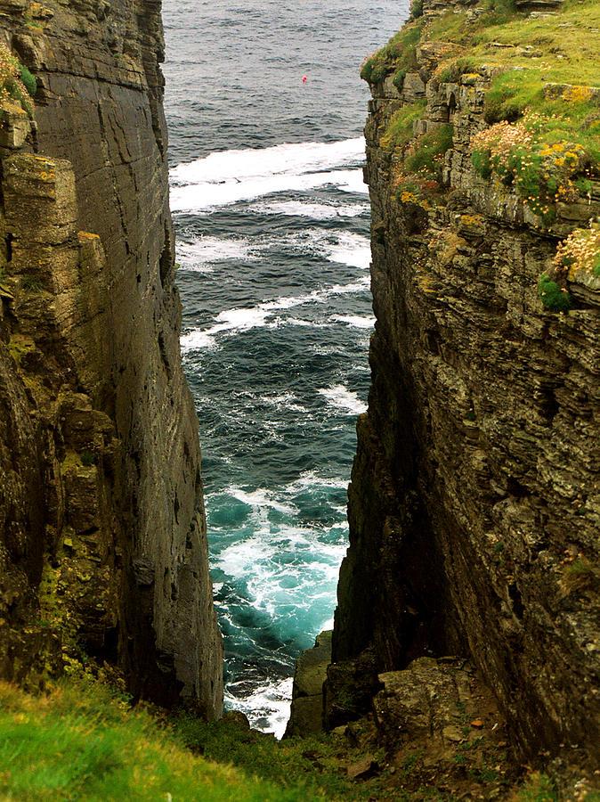 Cliffs Photograph - Cleft by Steve Watson