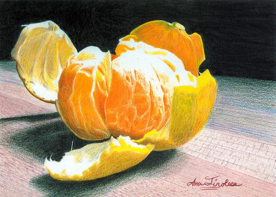 Orange Painting - Clementine by Ana Tirolese