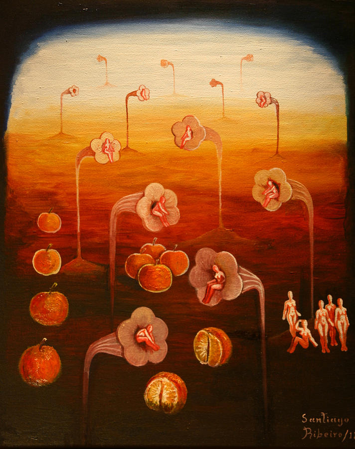 Surrealism Painting - Clementine by Santiago Ribeiro