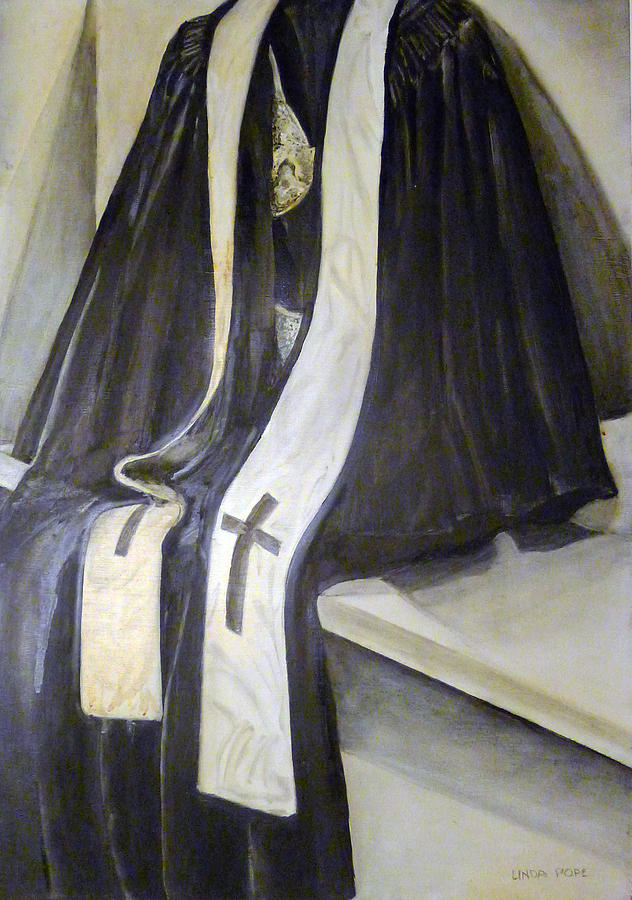 Clergy Painting - Clergy Attire by Linda Pope