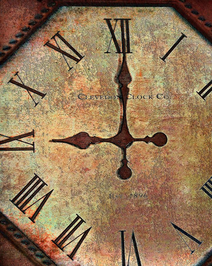 Time Photograph - Clevedon Clock by Robert Smith